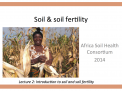 Soil and soil fertility