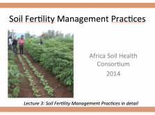 Soil fertility mgt practices