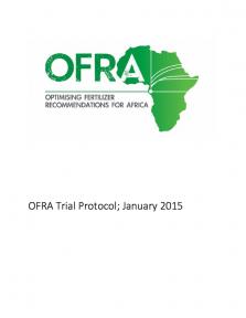 OFRA Trial protocol