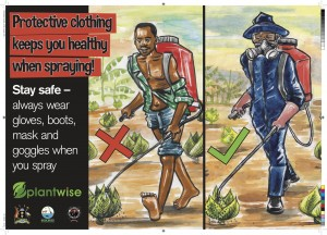 Pesticide - what to wear poster